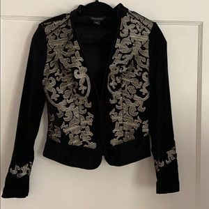 Gorgeous velvet jacket with embroidery by WHBM